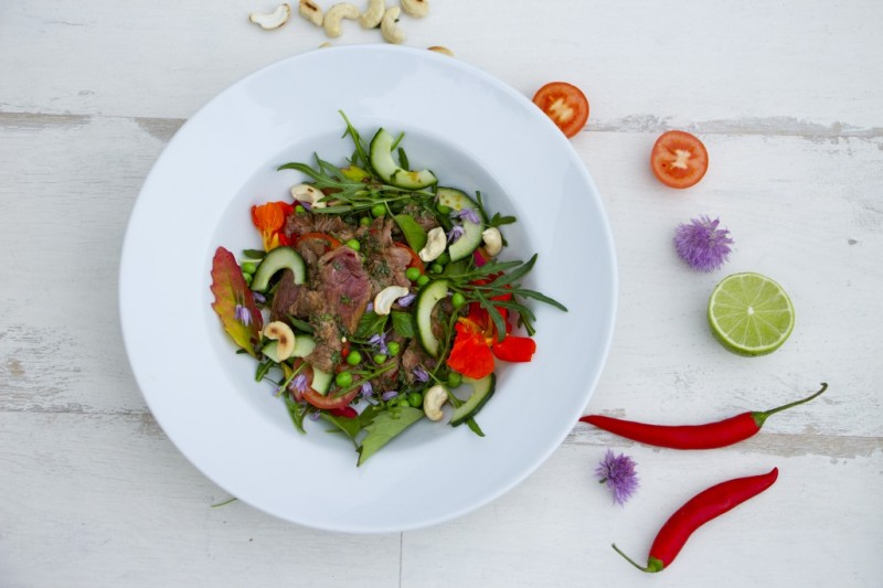Summer salad of Thai Beef -Taste of Thailand Cooking Class