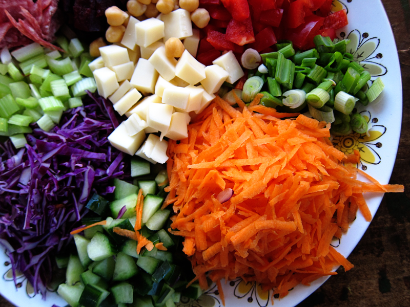 How to create a super salad!