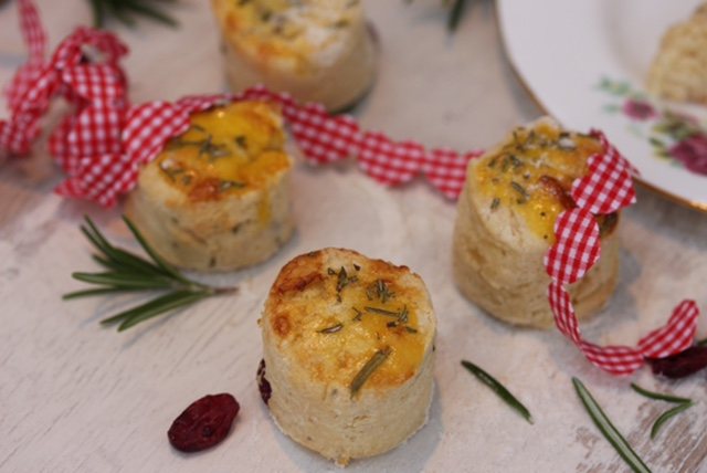 Gluten Free Rosemary and Cranberry Scones