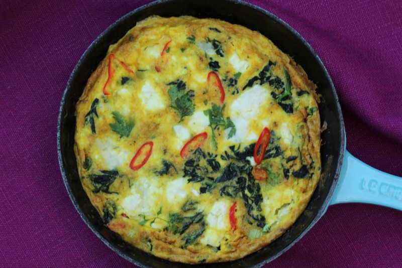 indian spiced omelette 1