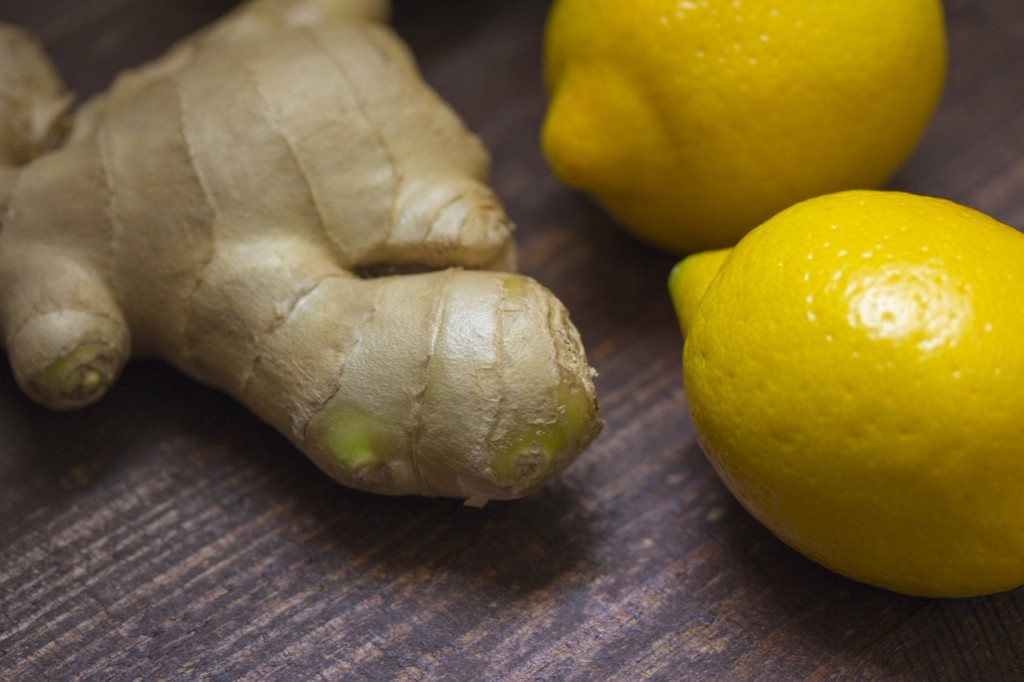natural aphrodisiac whole ginger root and lemons