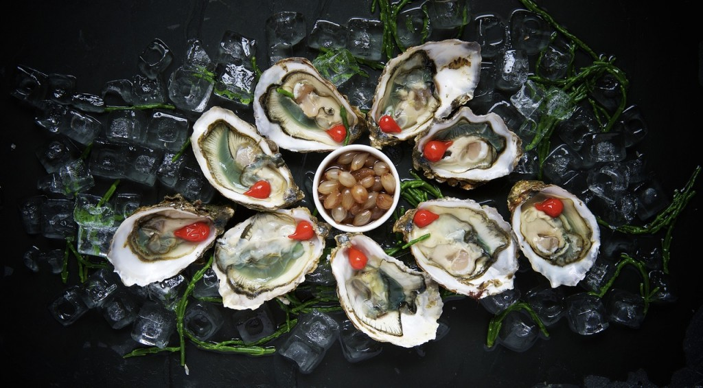 natural aphrodisiac platter of oysters in their shell