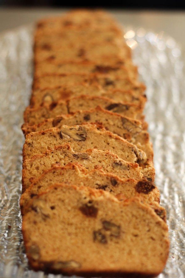 Gluten Free Fig and Walnut Bread