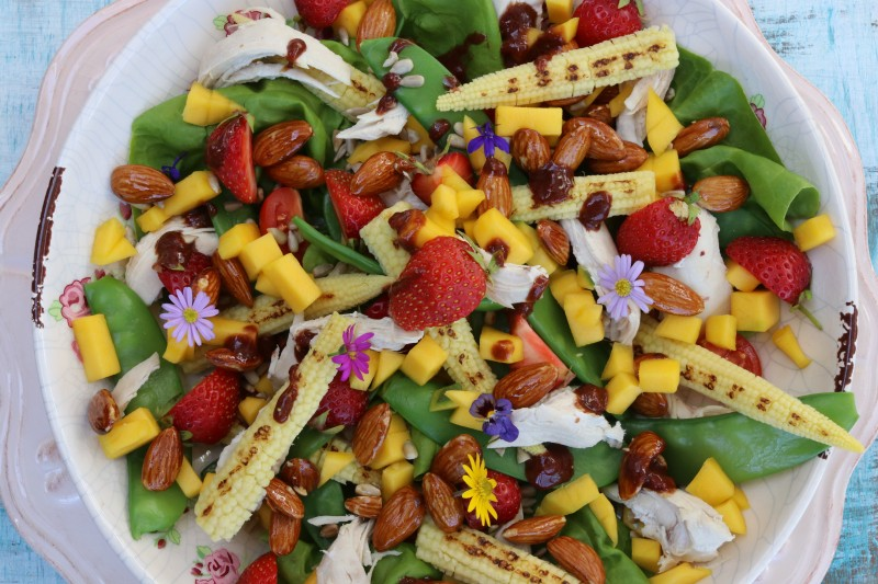 Strawberry, Mango and Chicken Salad