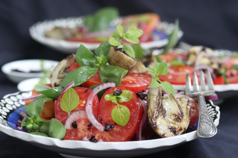 Char-Grilled Artichoke, Tomato and Herb Salad