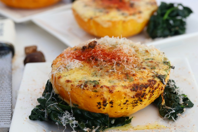 pumpkin Moussaka with Cheesey Bechemel sauce