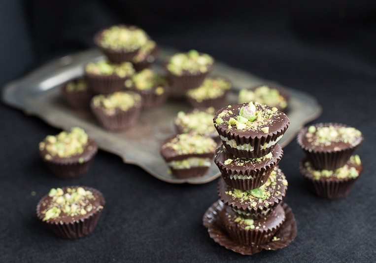 "No health warning needed for these ""oh, so good"" little gems - magic, melting moments of dark chocolate, coconut and pistachios."