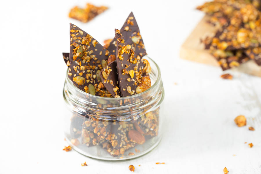 Crunchy Granola Chocolate Bark